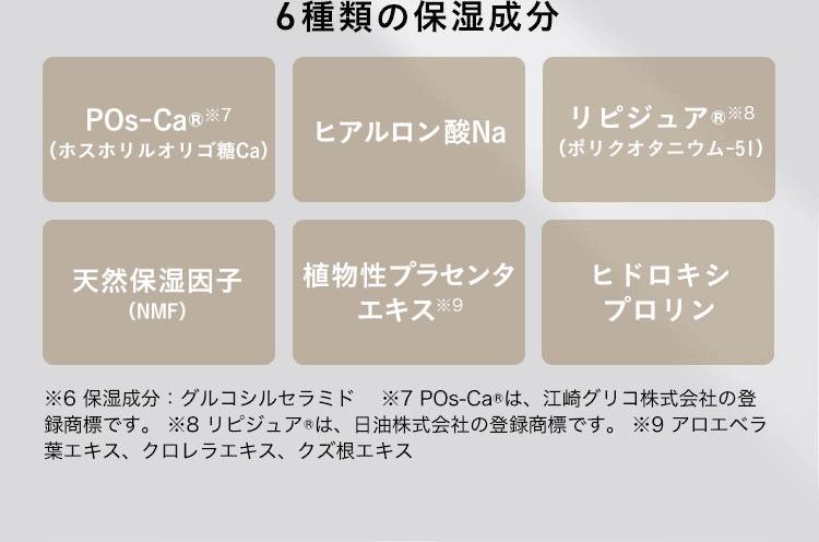 6種類の保湿成分